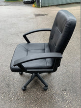Load image into Gallery viewer, Leather Faced Manager's Chair - Black - Flogit2us.com