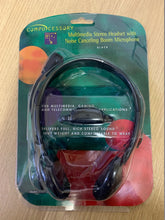 Load image into Gallery viewer, Compucessory Lightweight Headset 1.8m Cord Black Ref CCS55222 - Flogit2us.com