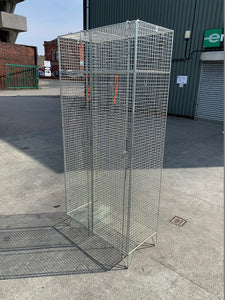2 Compartment Wire Mesh Locker - Flogit2us.com