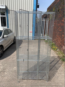 9 Compartment Wire Mesh Locker - Flogit2us.com