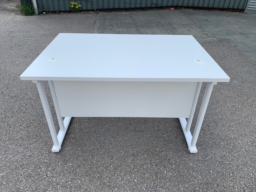 1200mm White Straight Desk (Special Offer) - Flogit2us.com
