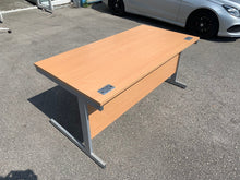 Load image into Gallery viewer, 1600mm Premium Straight Desk - Beech
