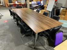 Load image into Gallery viewer, Walnut Executive Boardroom Table