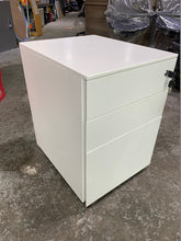 Load image into Gallery viewer, White Steel Under Desk 3 Drawer Pedestal (Special Offer)