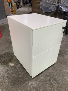 White Steel Under Desk 3 Drawer Pedestal (Special Offer)