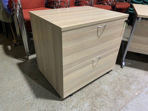 Grey Oak Lateral Filing Cabinet