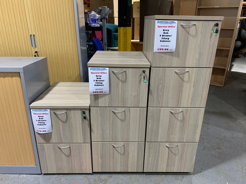 Grey Oak Filing Cabinets