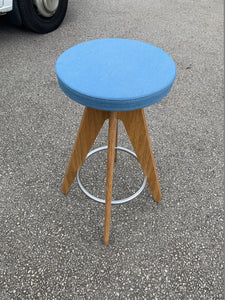 Connection Centro Upholstered Cafe/Bar Stool - Blue