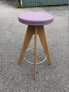 Connection Centro Upholstered Cafe/Bar Stool - Purple