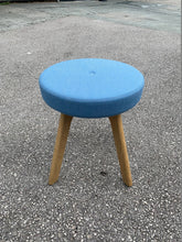 Load image into Gallery viewer, Connection Centro Upholstered Low Stool - Blue