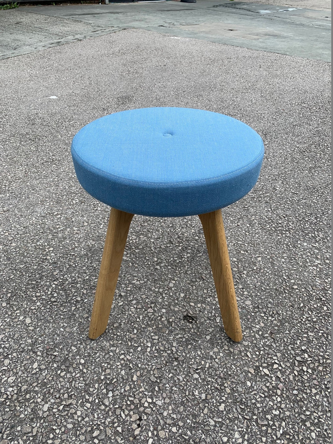 Connection Centro Upholstered Low Stool - Blue