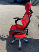 Load image into Gallery viewer, Red High Back Mesh Office Chair