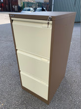 Load image into Gallery viewer, Bisley BS3E Flush 3 Drawer Coffee & Cream Filing Cabinet