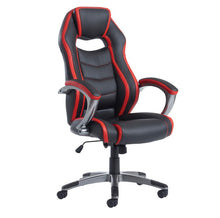 Load image into Gallery viewer, Jensen High Back Executive Chair - Black And Red Faux Leather - Flogit2us.com