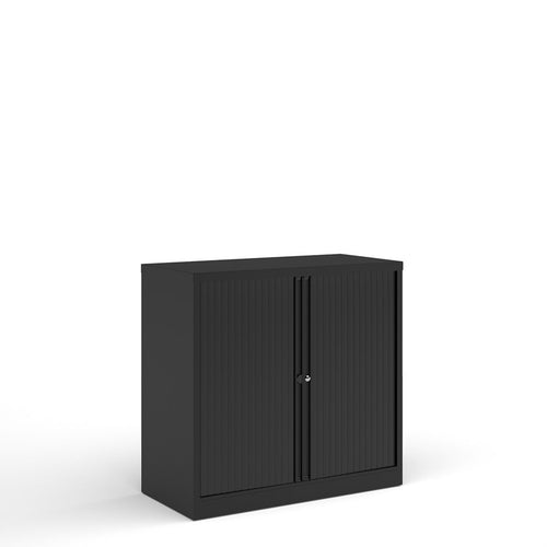 Bisley Systems Tambour Cupboard - Black - Flogit2us.com