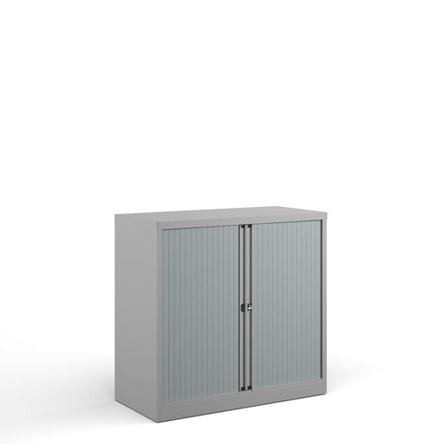 Bisley Systems Tambour Cupboard - Grey - Flogit2us.com