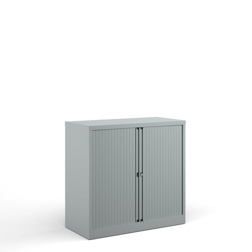 Bisley Systems Tambour Cupboard - Silver - 1015mm