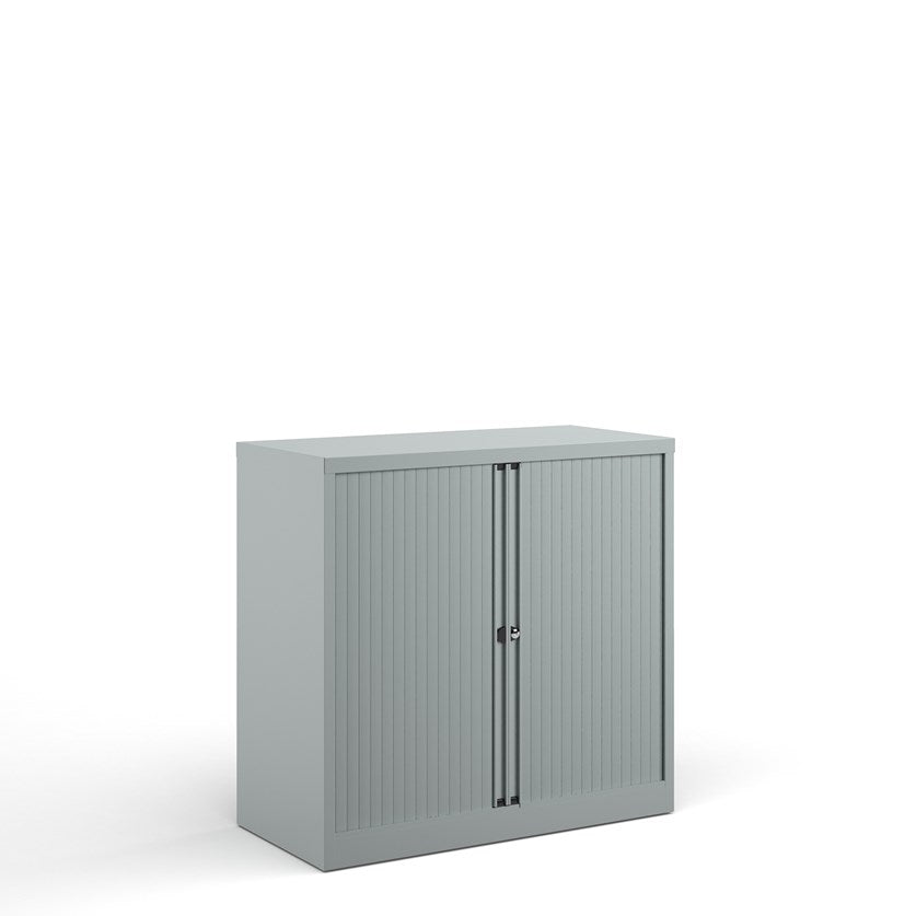Bisley Systems Tambour Cupboard - Silver - Flogit2us.com