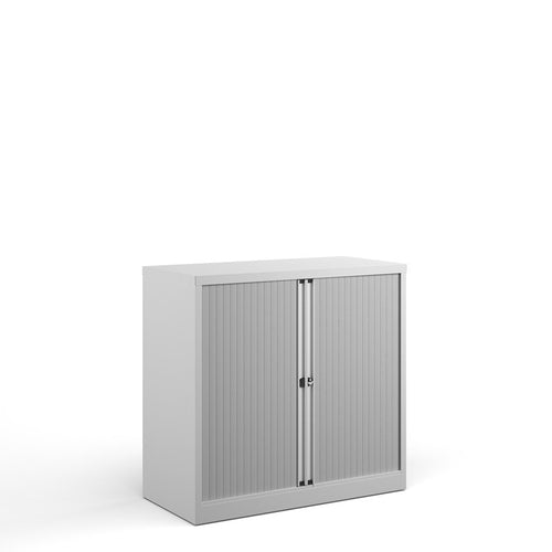 Bisley Systems Tambour Cupboard - White - Flogit2us.com