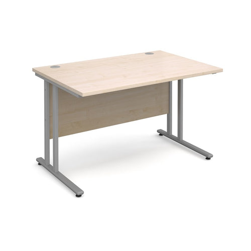 Maestro 25 Straight Desk - Maple - Flogit2us.com