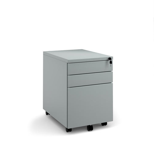 Steel 3 Drawer Wide Mobile Pedestal - Flogit2us.com