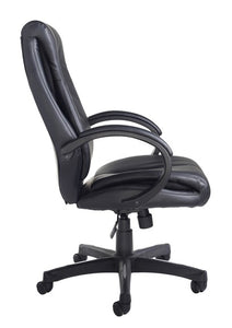 Nantes High Back Managers Chair - Black Faux Leather - Flogit2us.com