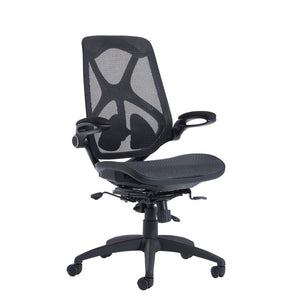 Napier High Mesh Back Operator Chair With Mesh Seat - Black - Flogit2us.com