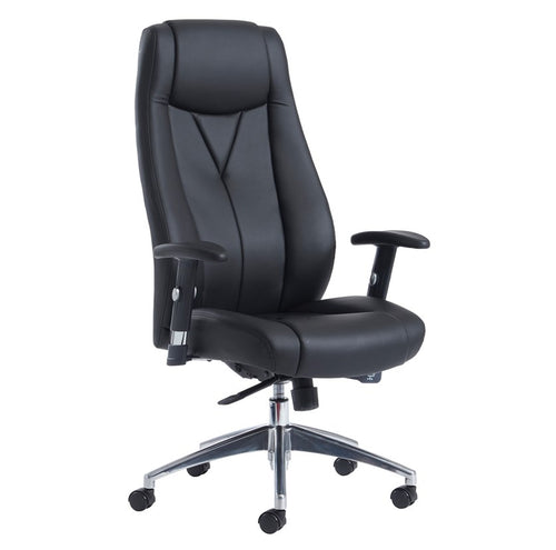Odessa High Back Executive Chair - Black Faux Leather - Flogit2us.com