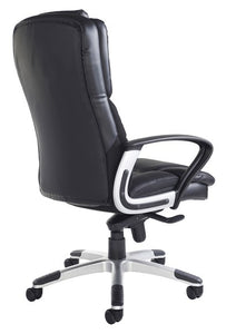 Palermo High Back Executive Chair - Black Faux Leather - Flogit2us.com
