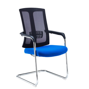 Ronan Chrome Cantilever Mesh Back Conference Chair - Flogit2us.com