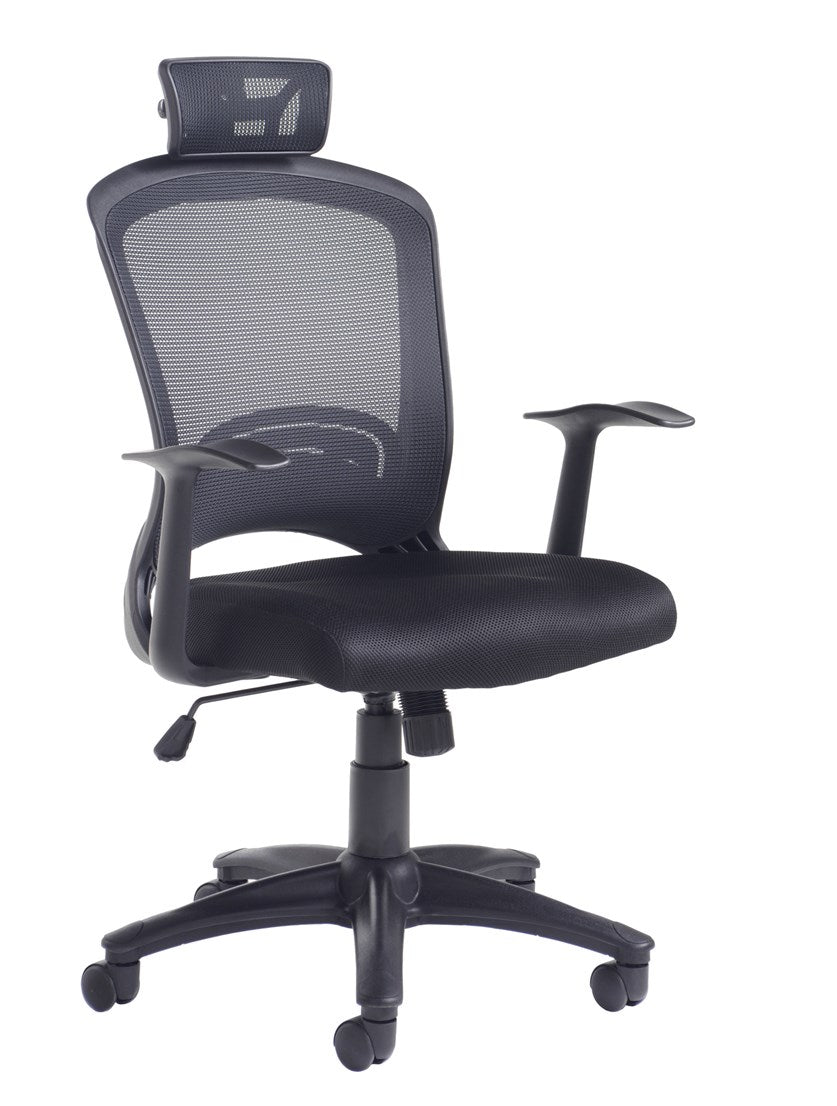 Solaris Mesh Back Operator Chair - Black - Flogit2us.com