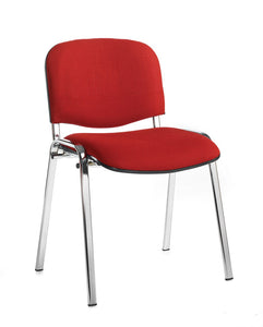 Taurus Meeting Room Stackable Chair With Chrome Frame - Flogit2us.com