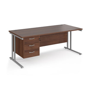 Maestro 25 Straight Desk With Fixed 3 Drawer Pedestal - Flogit2us.com