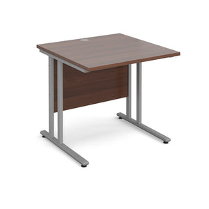 Maestro 25 Straight Desk - Walnut - Flogit2us.com