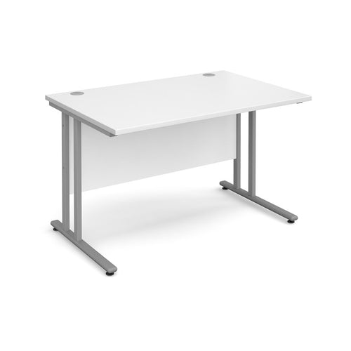 Maestro 25 Straight Desk - White - Flogit2us.com