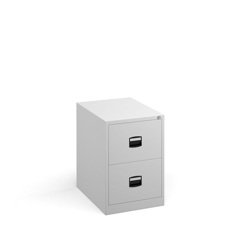 Steel Contract Filing Cabinet - White - Flogit2us.com