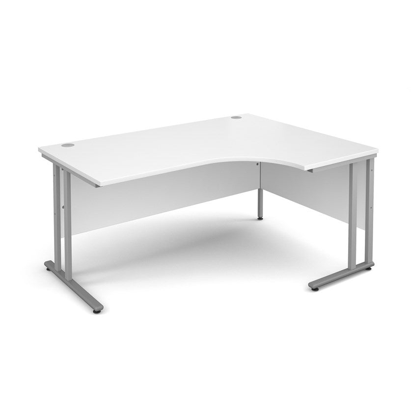 1800mm White Radial Desk - Flogit2us.com