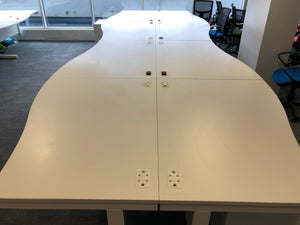 1400mm White Wave Desk - Right/Left Hand - Flogit2us.com
