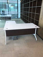Load image into Gallery viewer, White Executive L-Shaped Office Desk - Flogit2us.com