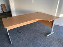 Load image into Gallery viewer, 1800mm Premium Beech Radial Desk - Flogit2us.com