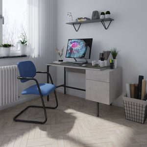 Delphi Home Office Workstation With Integrated Pedestal