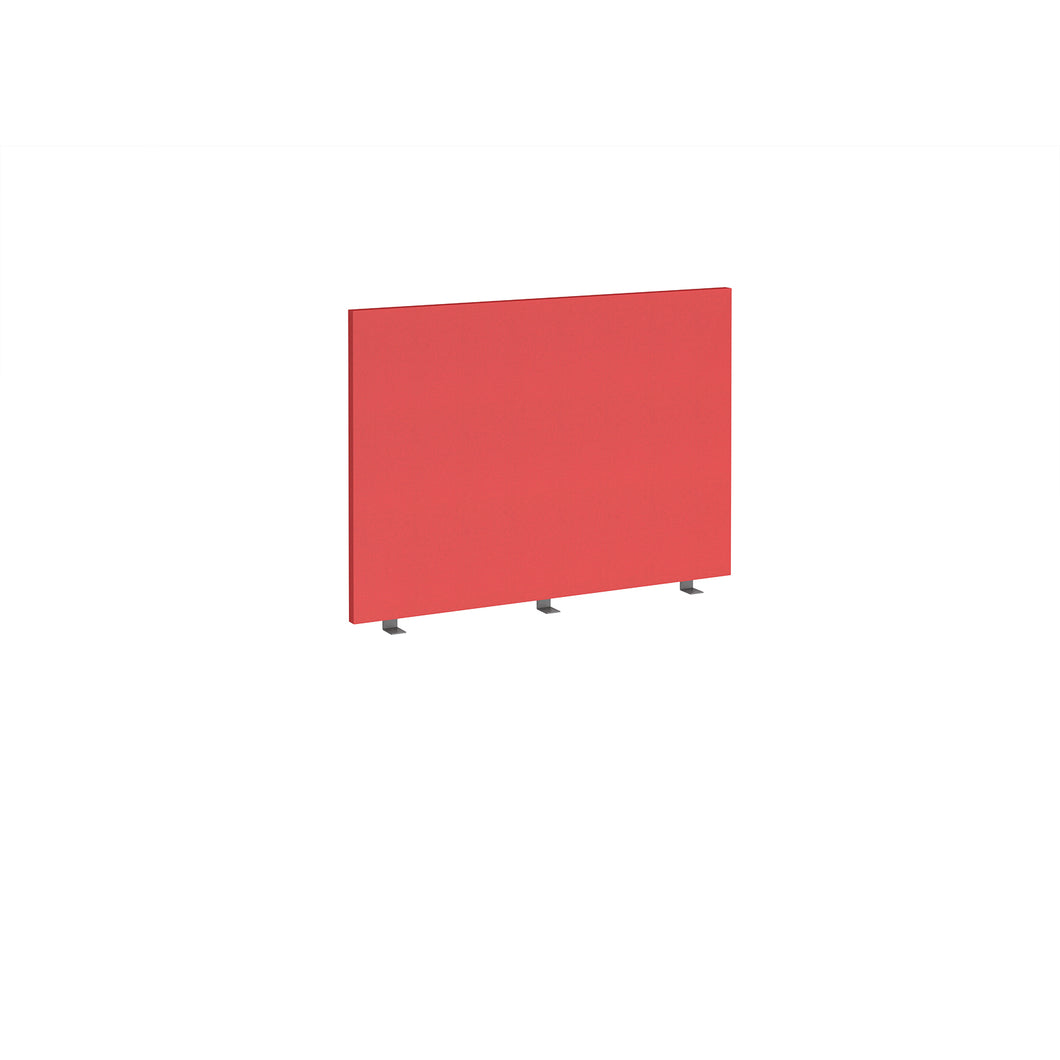 Straight 700mm High Desktop Fabric Screen - Pitlochry Red