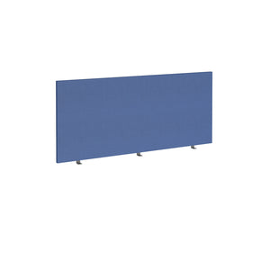 Straight 700mm High Desktop Fabric Screen - Blue