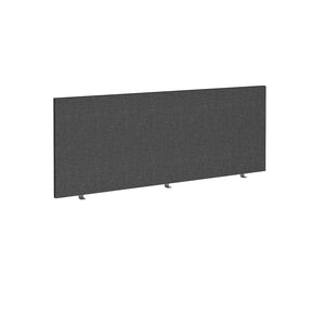 Straight 700mm High Desktop Fabric Screen - Charcoal