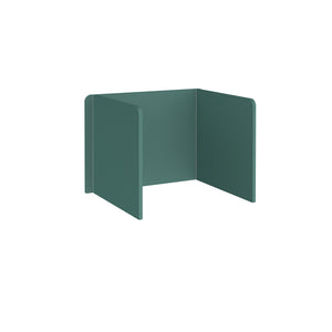Free Standing 3 Sided 700mm High Fabric Desktop Screen - Carron Green