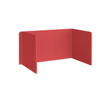 Load image into Gallery viewer, Free Standing 3 Sided 700mm High Fabric Desktop Screen - Pitlochry Red
