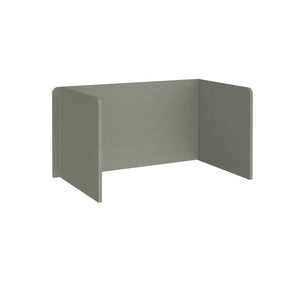 Free Standing 3 Sided 700mm High Fabric Desktop Screen - Hillswick Grey
