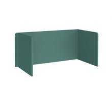 Load image into Gallery viewer, Free Standing 3 Sided 700mm High Fabric Desktop Screen - Carron Green
