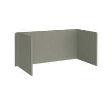 Load image into Gallery viewer, Free Standing 3 Sided 700mm High Fabric Desktop Screen - Hillswick Grey