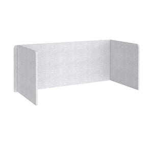 Free Standing 3 Sided 700mm High Fabric Desktop Screen - Glass Grey
